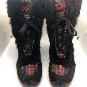 """❤️Coach """"Jennie"""" Rabbit Fur Boots 10B"""